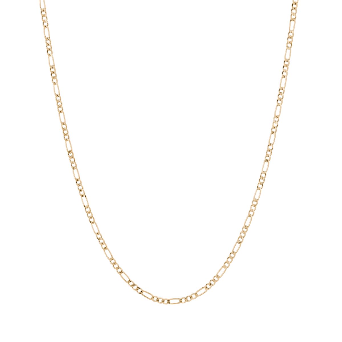 Medium Gold Figaro Chain Necklace