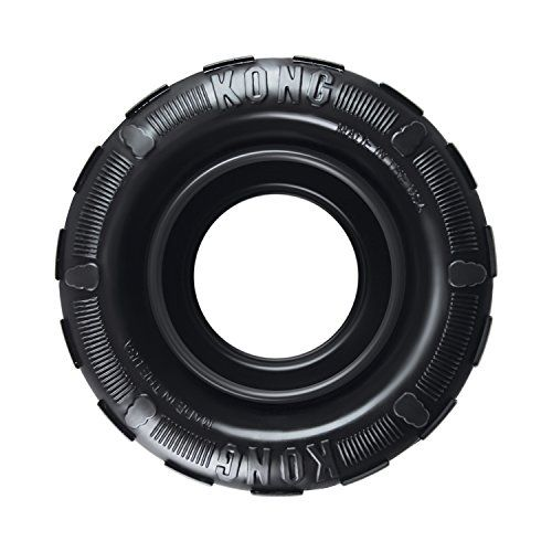 KONG - Tires - Durable Rubber Chew Toy and Treat Dispenser for Power Chewers - For Medium/Large Dogs