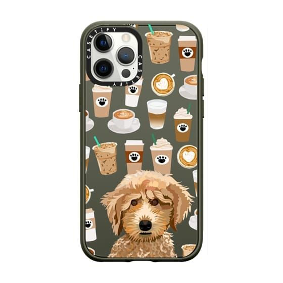 Poodle coffee clear phone case