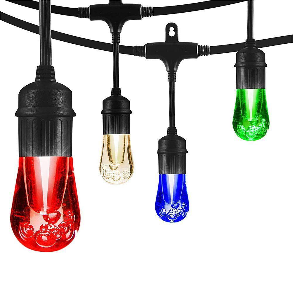 vintage seasons color changing cafe led string lights 48 feet