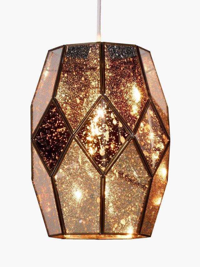 Romy Gold Mirrored Glass Ceiling Shade, John Lewis, £95