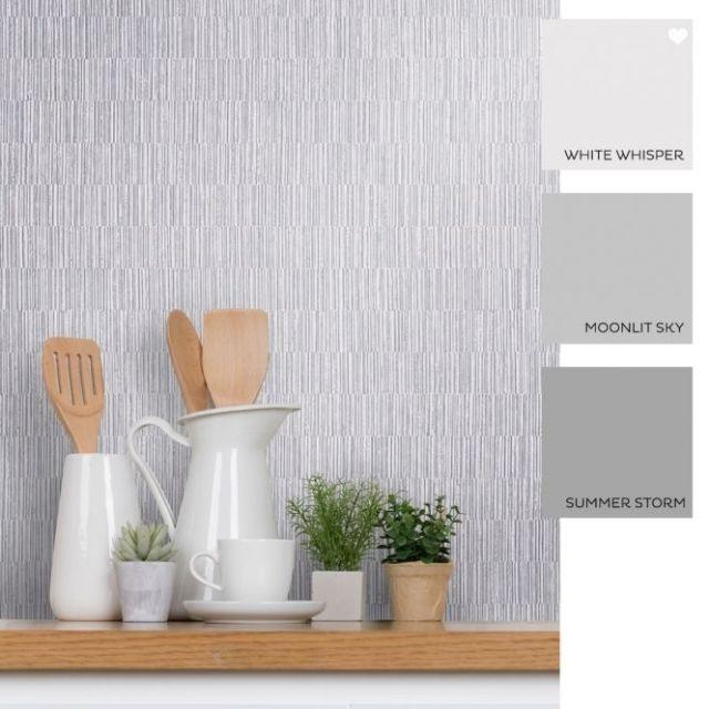 Modena Crushed Stripe Wallpaper, I Love Wallpaper, £14