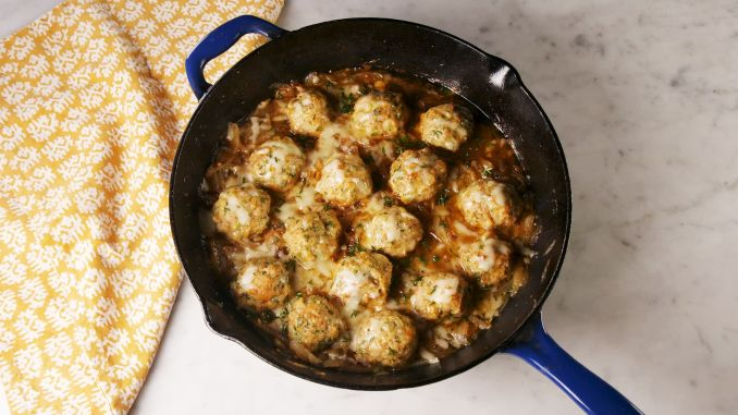 Best French Onion Chicken Meatballs Recipe - How To Make