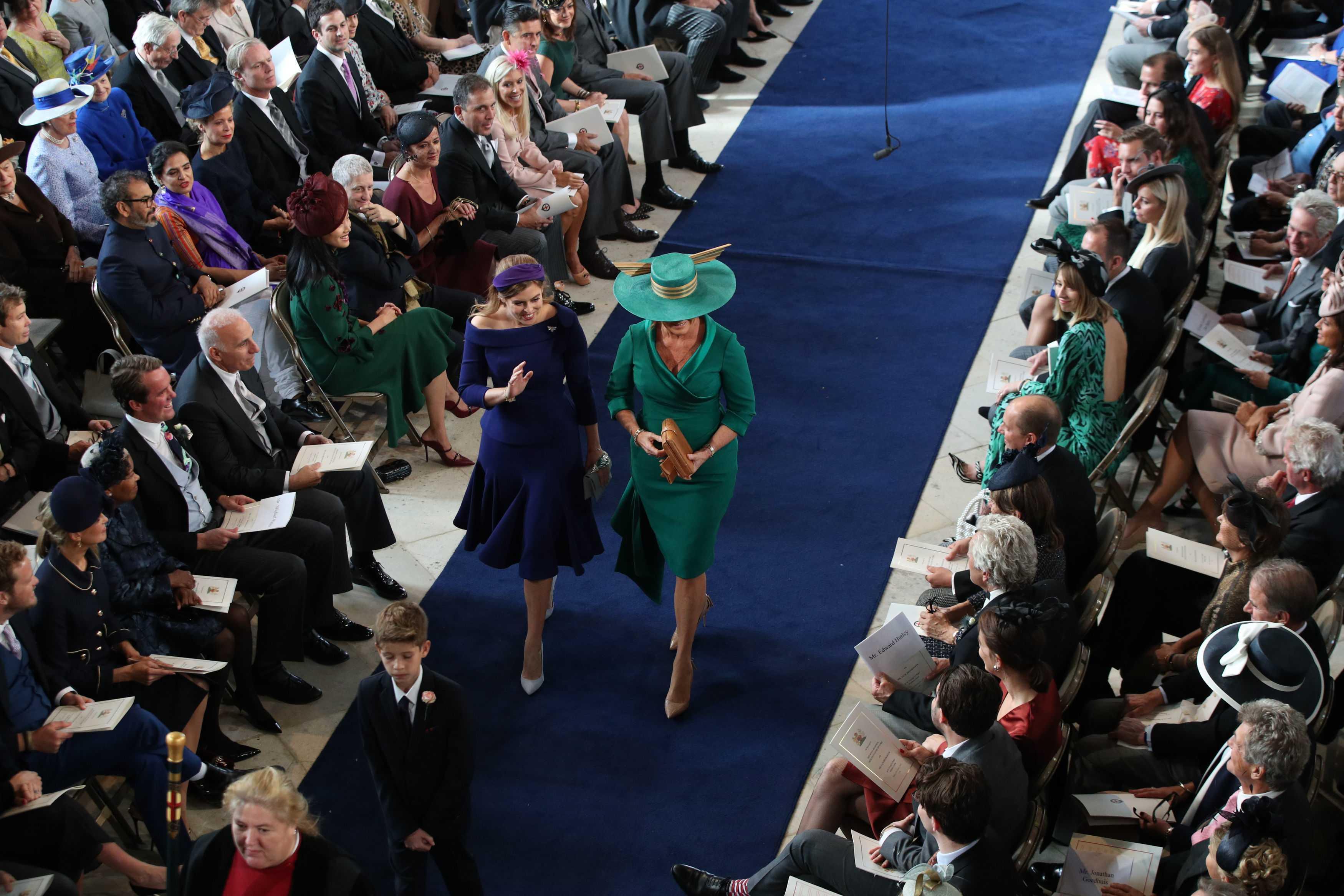 Princess Eugenie wedding Sarah Ferguson and Beatrice
