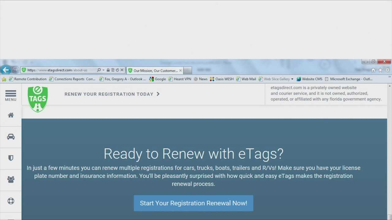 How Renew Tags Online