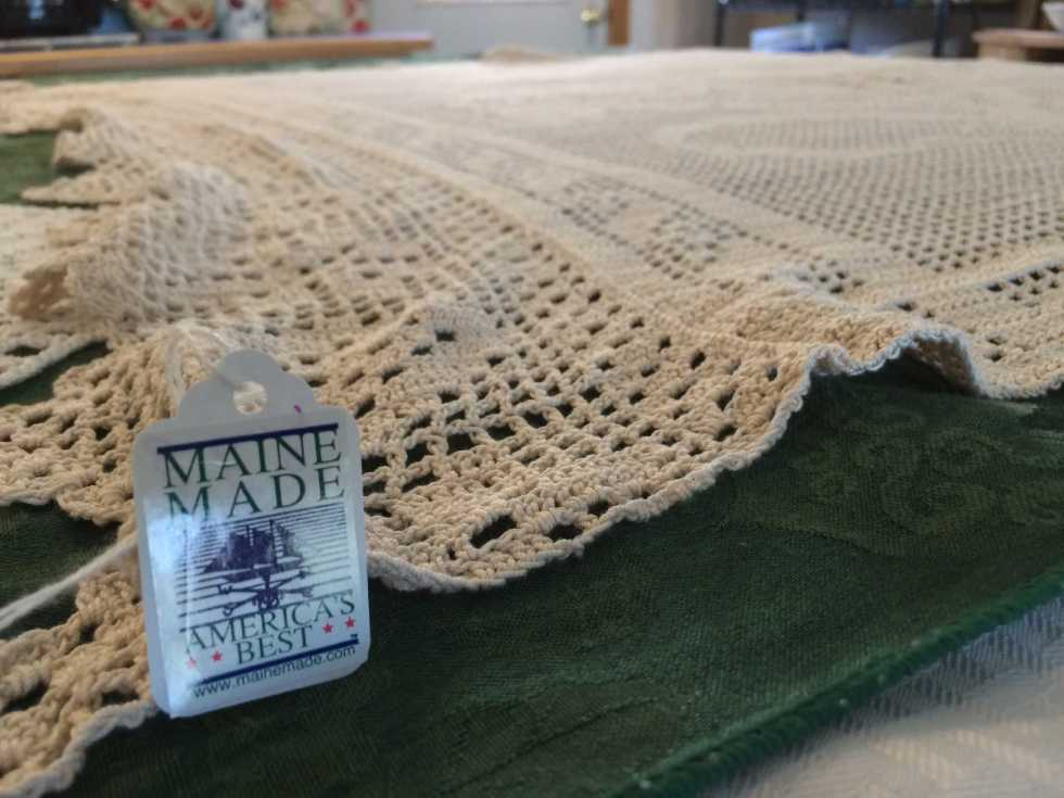 Maine woman uses hook, yarn to make works of art