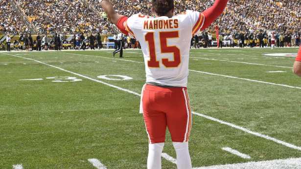 Image result for patrick mahomes vs steelers