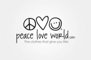 Peace Love World  Off Valentines Day Collection