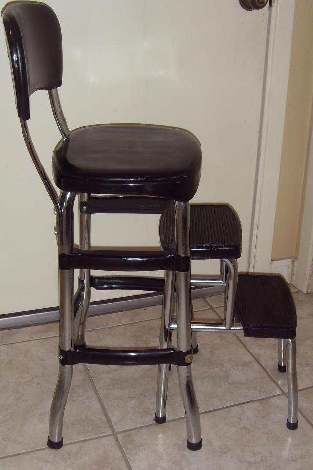 Astonishing Black Step Stool Chair Bonat Ullman Convertable Hair Dryer Spiritservingveterans Wood Chair Design Ideas Spiritservingveteransorg