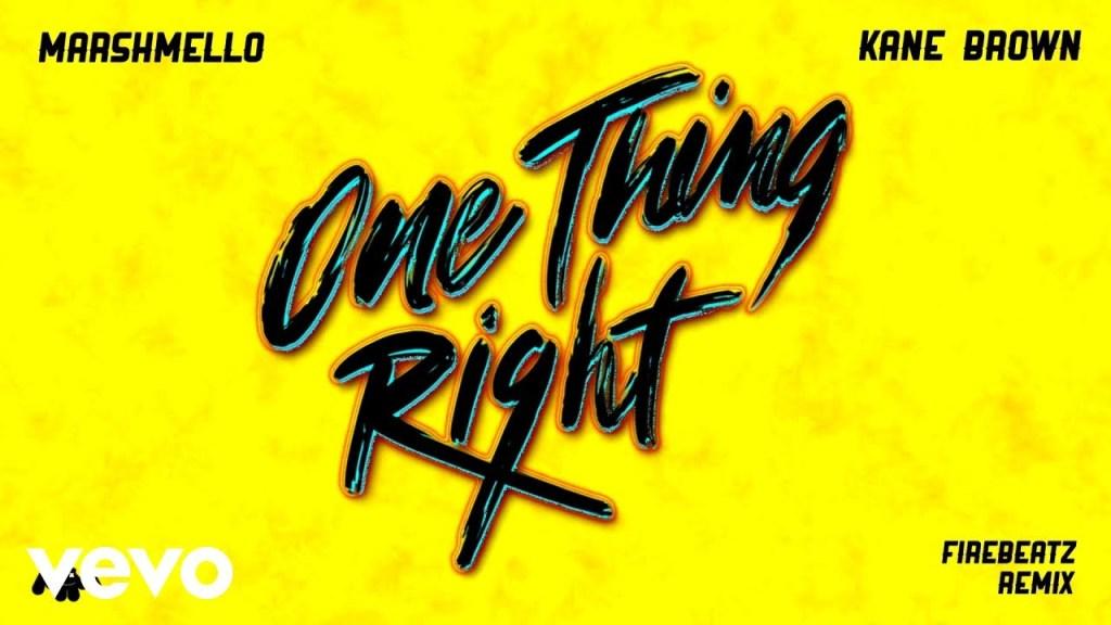 Marshmello, Kane Brown – One Thing Right (Firebeatz Remix [Audio])