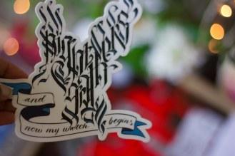 Raven Shaped Sticker