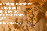 An alarming number of shoppers are still paying off debt from last Christmas