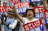 These people want America's military presence gone….Japanese hold sit-in Okinawa, try to obstruct construction of US base