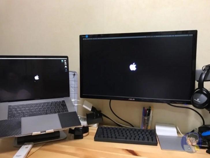 Macで配置している「Dock」の位置