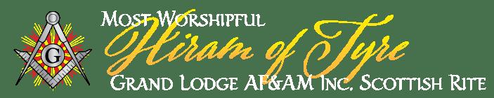 MW Hiram of Tyre Grand Lodge AF&AM Inc. Scottish Rite