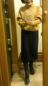 ネイビータイトスカート