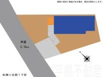 紅葉ヶ丘西1丁目区画図2019.