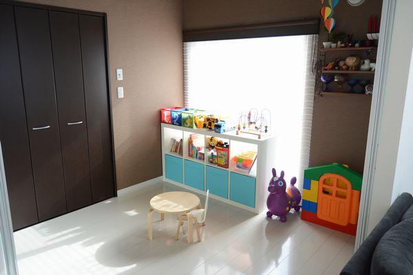 ikeaの収納家具を子供部屋に