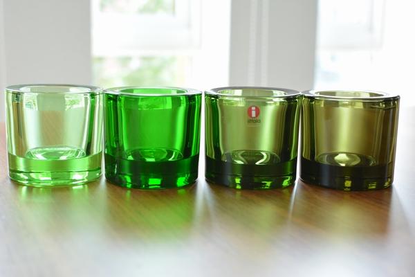 イッタラ kivi フォレストグリーンとグリーン系比較