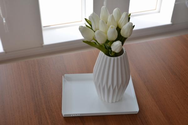 Nur Designと白いチューリップ