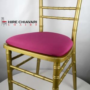 gold chiavari pink seat pad