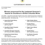 BC Government House announces 2010 Lieutenant Governor's Awards