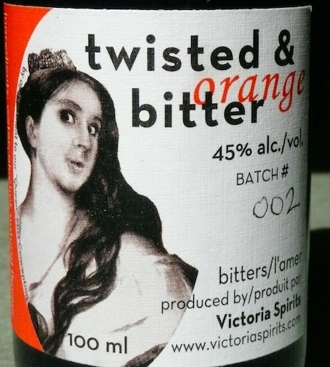 Victoria Gin Twisted & Bitter label
