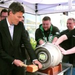 Mayor Gregor Taps One for the Team