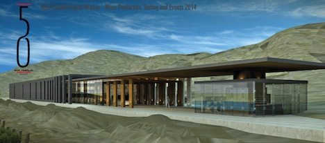 50th Parallel's new winery building is scheduled for completion in 2014
