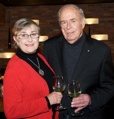 Margaret and Peter Lehmann, around the time of their 2011 Vancouver