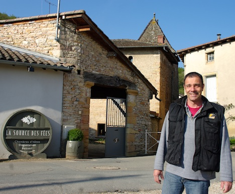 La Source des Fées winemaker and innkeeper Philippe Greffet