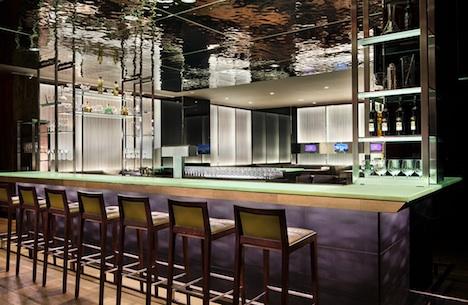A pretty sleek bar, and a dynamic cocktail list