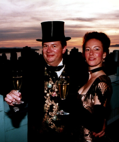 The Night They Invented Champagne! Tim & Heather toast the next 100 days on the roof of Hotel Vancouver - Jack Wong photo