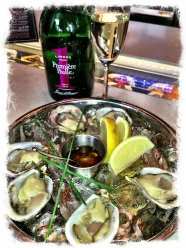 Premier Bulle bubble and TWB's oysters on the half shell