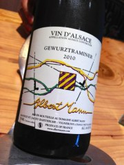 You can always find something just a little different here, such as this classic estate grown Gewurz from Alsace's Albert Mann
