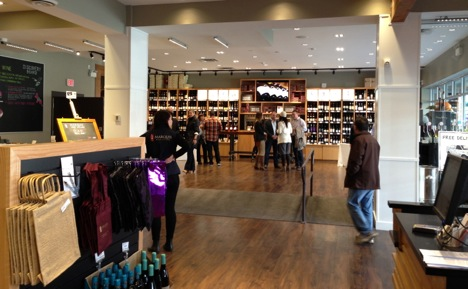 dazzling new wine shop