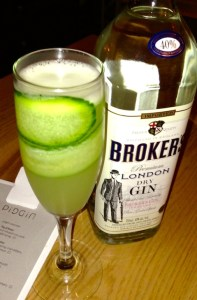 Pidgin Restaurant Mary Ellen Smith - gin, carbonated sake, lime, cucumber juice