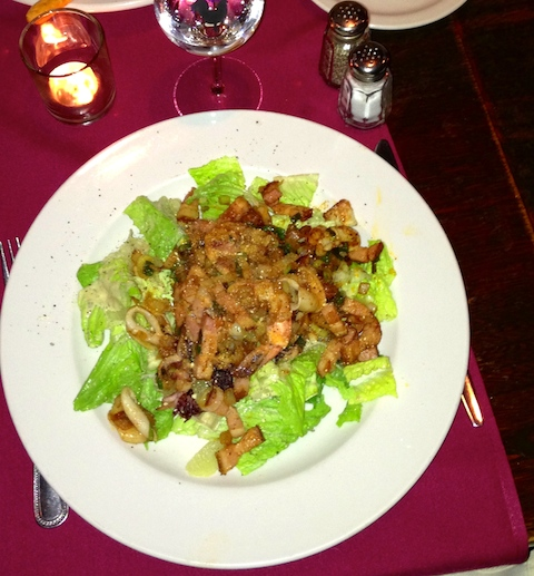 First hit of the night: salad Régalade: I might be tempted to order it alone the next time