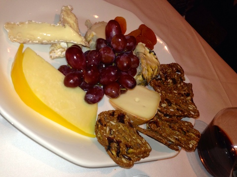 No skimping on the cheese plate...