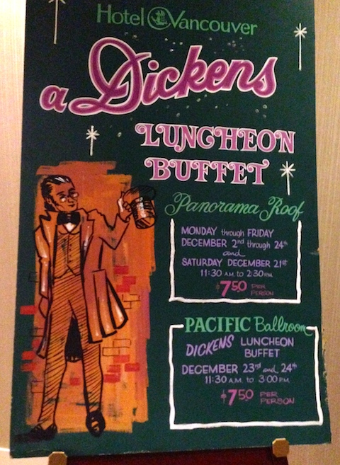The Roof Dickens Buffet poster