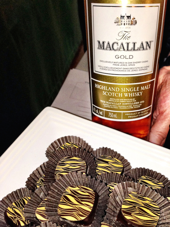 ChocolaTas orange infusion with Macallan 12 Year Old... Mmmm!