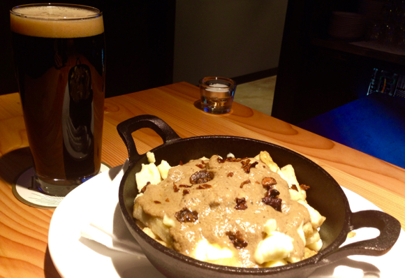 """Timber serves serious Canadian comfort food, such as mushroom """"poutine"""" shoestring fries, mushroom chips, curds and mushroom gravy"""