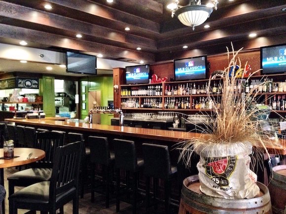 The main bar at The Noble Pig in downtown Kamloops