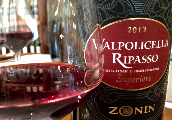 Zonin Ripasso at the Valpolicella Tasting Station