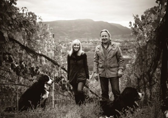 Dawn and Doug Reimer in Mirabel Vineyard