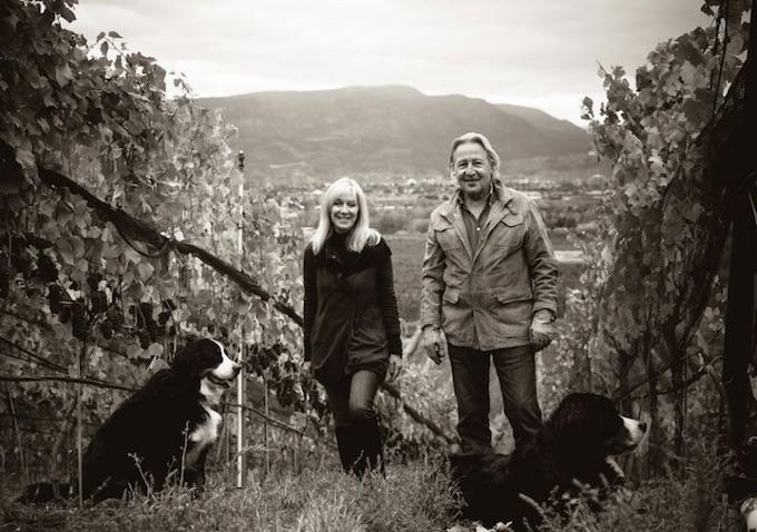 Dawn and Doug Reimer in Mirabel Vineyard
