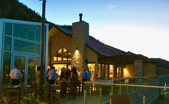 VIP tasting, Twilight on the patio at Fitzpatrick Family Estate