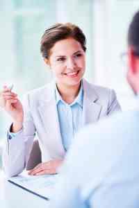 Female business consultant
