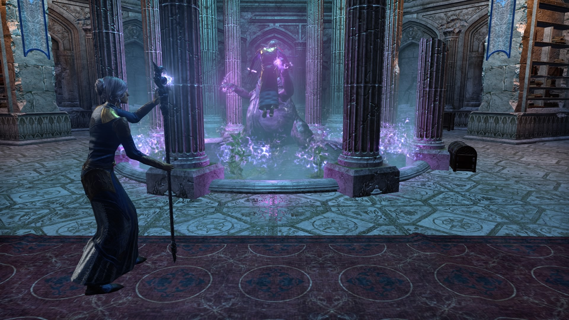 Using the Ul'vor Staff to break into K'Tora's Mind