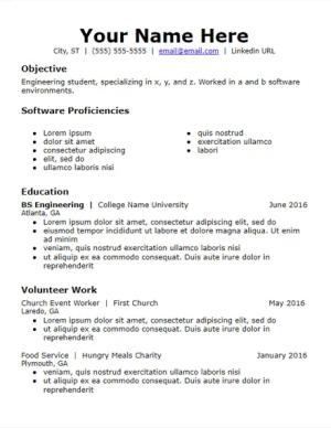 objective skills volunteer experience resume template